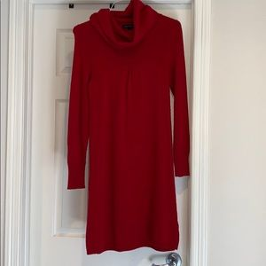 Banana Republic red sweater dress